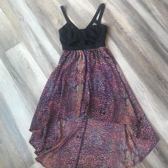 Flowing Hi-lo Cut-out Dress